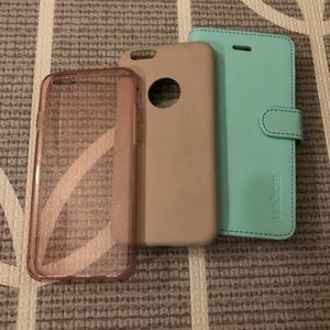 EUC Spigen iPhone 6/6s/7/7s Phone cases